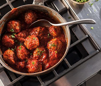 cooked perfect all natural italian style meatballs lifestyle