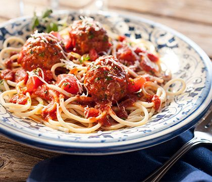 cooked perfect italian style meatballs lifestyle