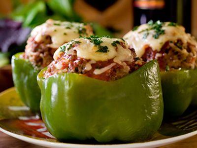 Meatball Stuffed Peppers