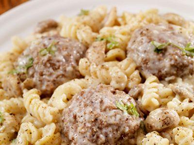 Meatballs and Pasta Frezilinni