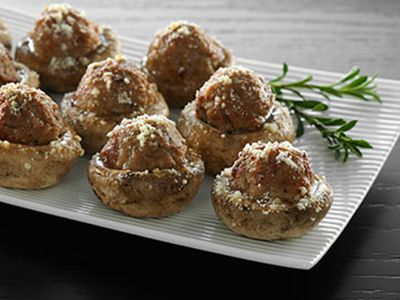 cooked perfect recipe meatballs stuffed mushrooms