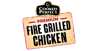 cooked perfect fire grilled chicken logo