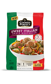 cooked perfect sweet italian style meatballs