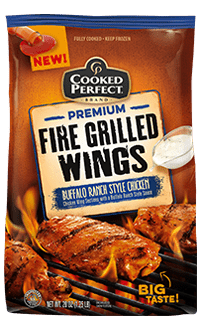 cooked perfect buffalo ranch style fire grilled wings