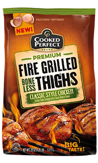 cooked perfect classic style chicken fire grilled boneless thighs