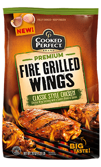 cooked perfect classic style chicken fire grilled wings