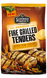 cooked perfect lemon herb chicken fire grilled tenders