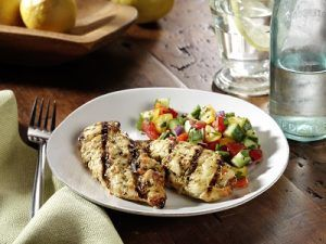 cooked perfect recipe lemon chicken tenders cucumber salad