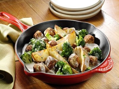 Potato & Meatball Skillet