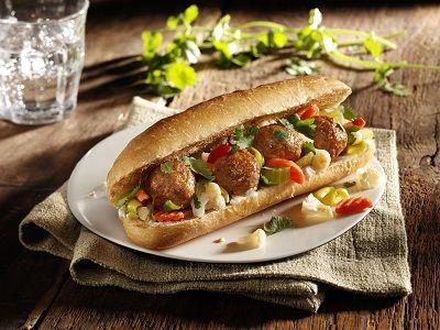 Korean BBQ Meatball Sandwich