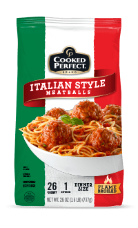 cooked perfect italian style meatballs