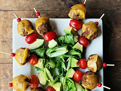 cooked perfect recipe avocado cheeseburger meatballs appetizer