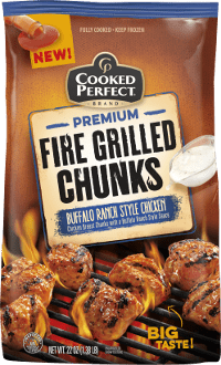 cooked perfect buffalo ranch chicken fire grilled chunks