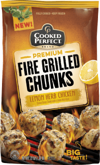 Lemon Herb Fire Grilled Chunks Cooked Perfect
