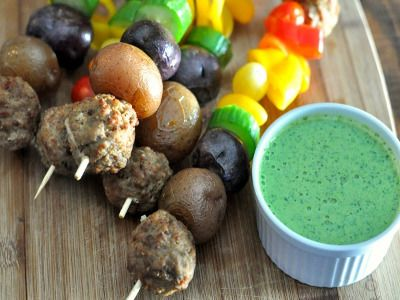 cooked-perfect-rainbow-kabobs-cilantro-sauce-recipe