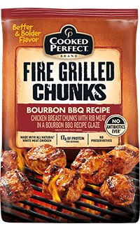 Bourbon Bbq Fire Grilled Chunks Cooked Perfect