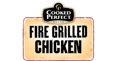 cooked perfect fire grilled chicken logo 2019