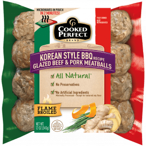 cooked perfect fresh meatball korean beef pork product image