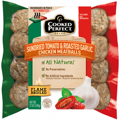 cooked perfect fresh meatball sundried tomato chicken product image