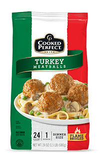 cooked perfect meatball turkey product image