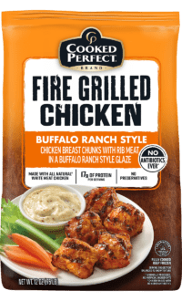 cooked perfect fire grilled buffalo ranch chunks