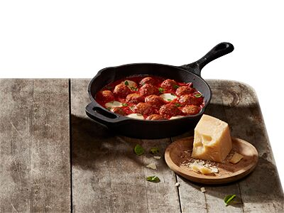 cooked perfect recipe meatball mozzarella skillet meal